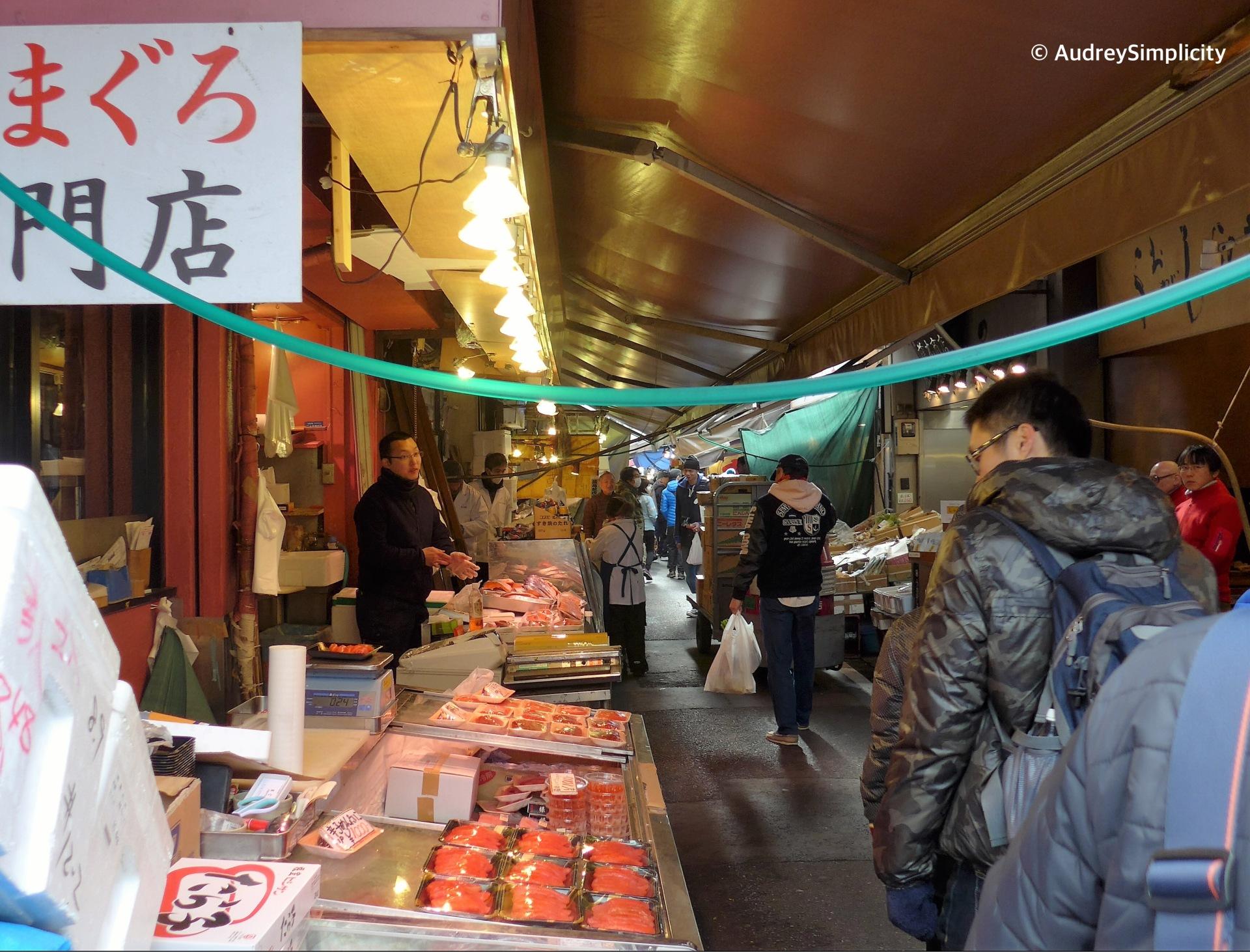 Stores at Tsukiji Shijio