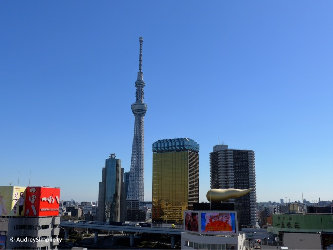 View of Tokyo Skytree from Asakusa Visitors' Centre