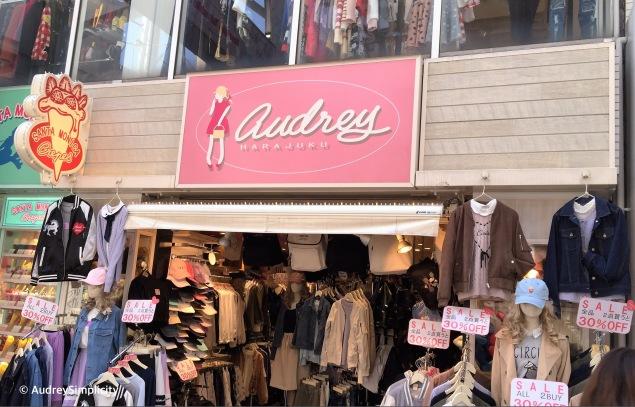 Store along Harajuku