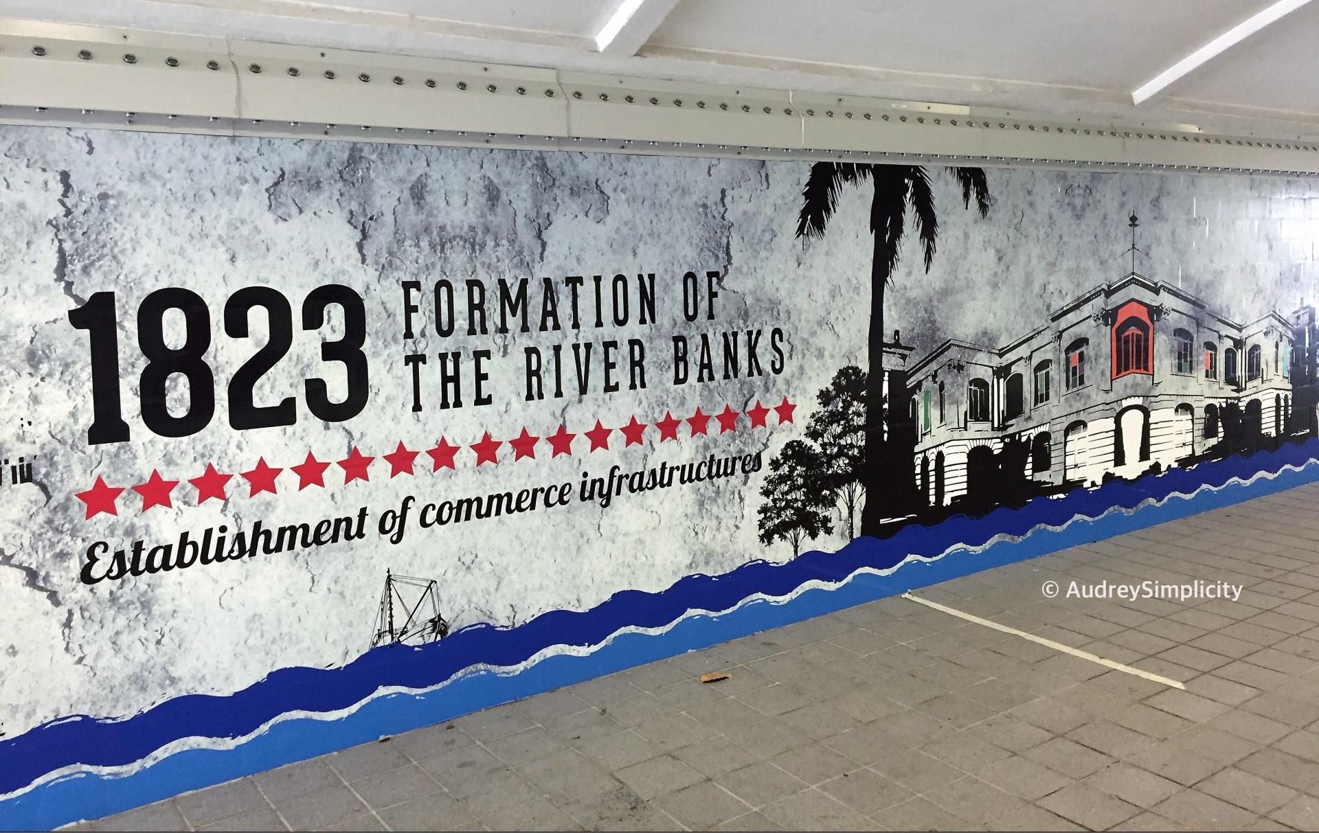 1823 Establishment of commerce infrastructure