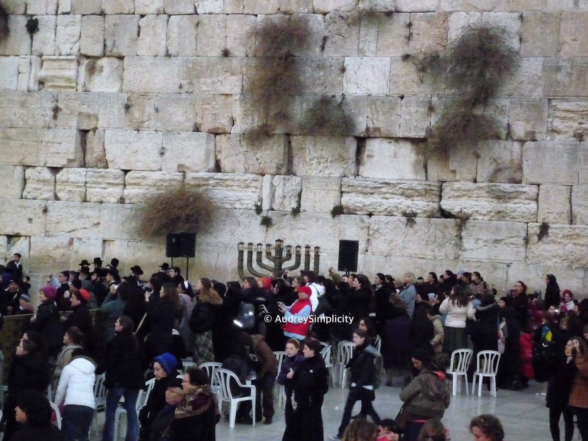 Shalom! Western Wall and Hanukkah