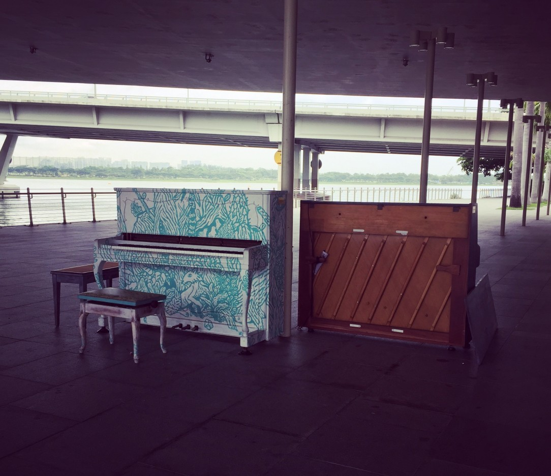 Piano at Marina Bay taken by AudreySimplicity