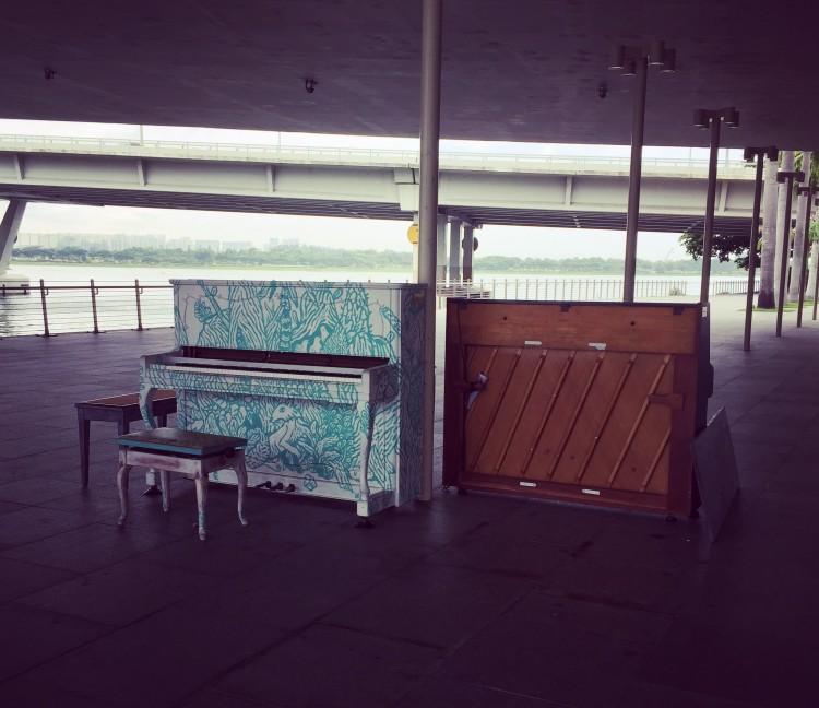 Piano at Marina Bay taken by AudreySimplicity