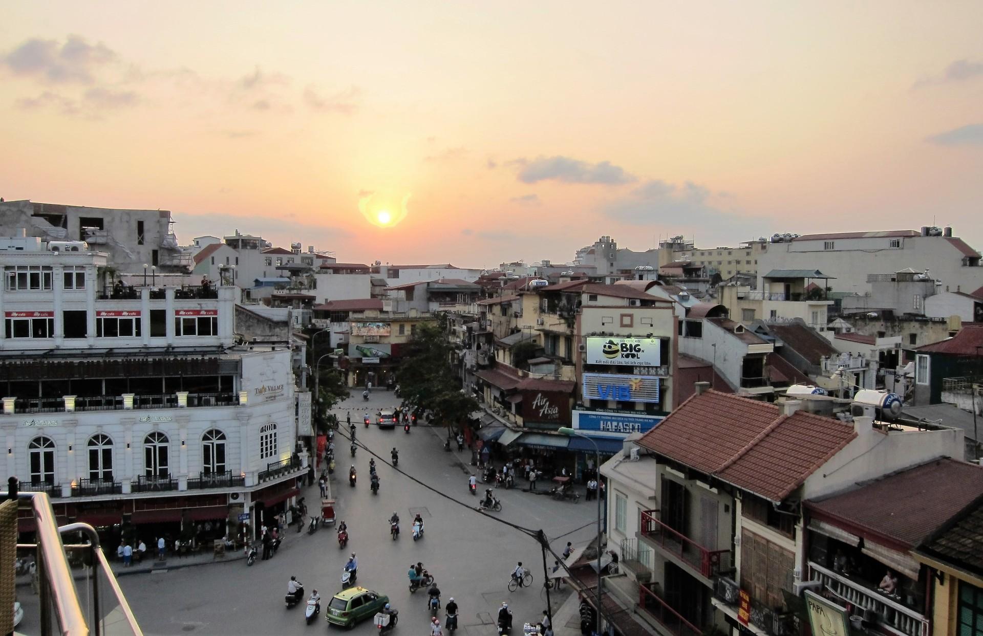 Sunset at Hanoi Old Quarters