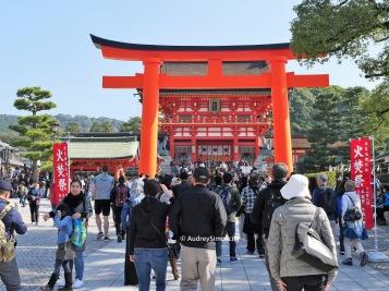 Giant Torri Gate at Inari by AudreySimplicity