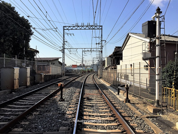 Railway track in Kyoto taken by AudreySimplicity
