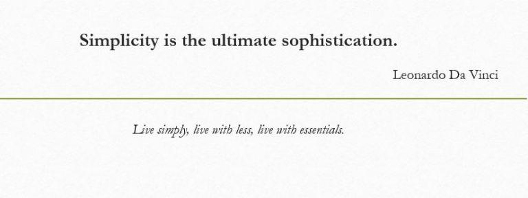Simplicity Leonardo Da Vinci