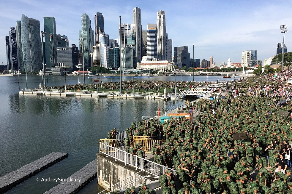 Singapore Soldiers at Marina Bay
