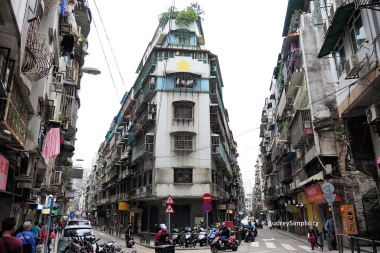 Residential area of Macau Peninsula