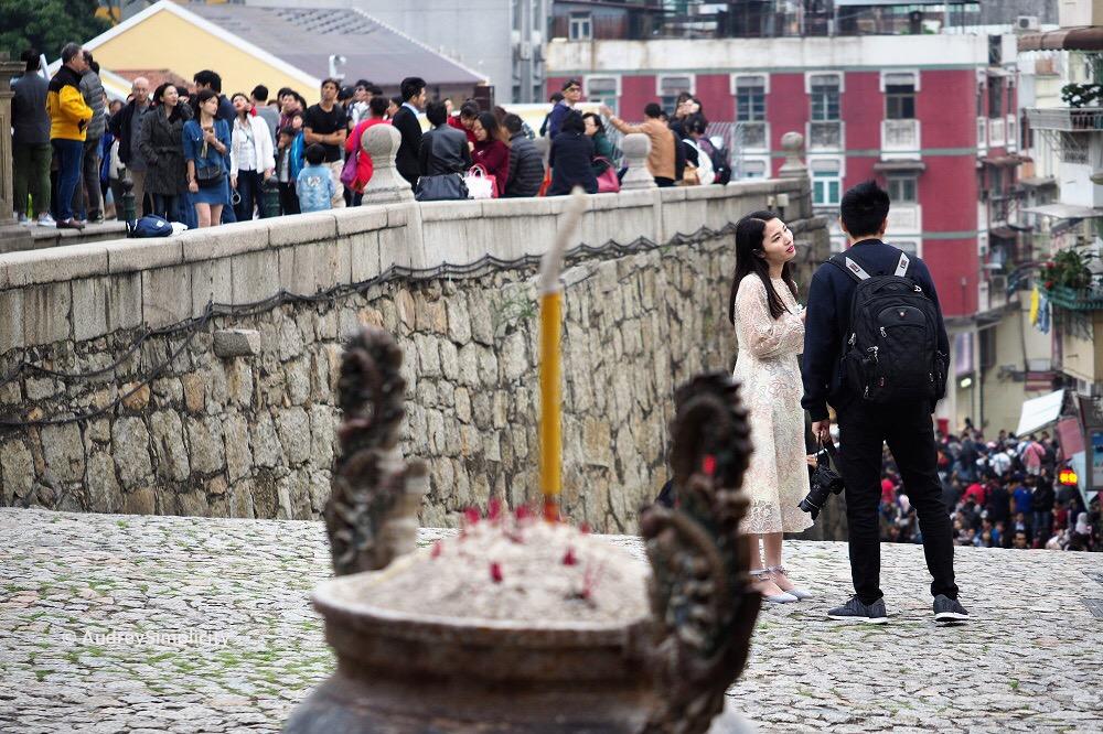 Couple at Macau St Paul's