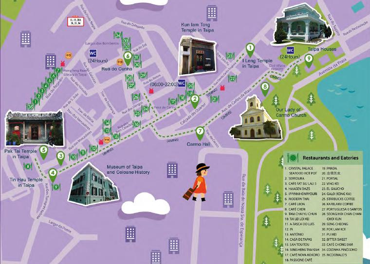 Macau Historic Centre Map
