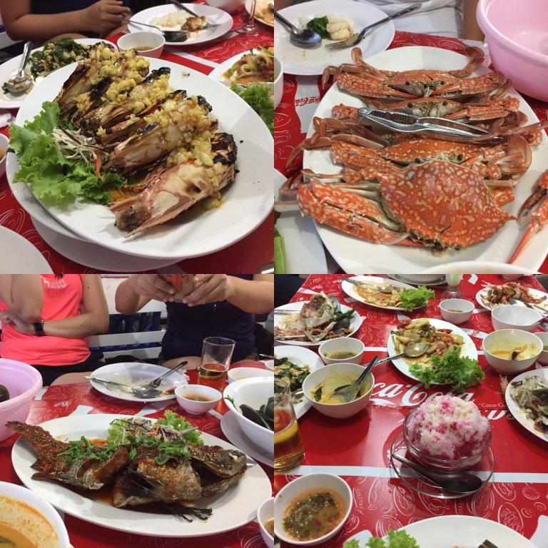 Seafood dinner at Phuket