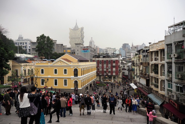 View from Ruins of St Paul's Macau