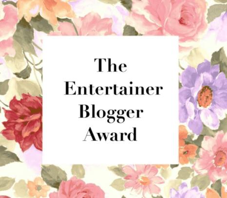 Entertainer Blogger Award 2